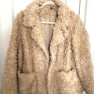 H&M Teddy Jacket Faux Fleece Coat S